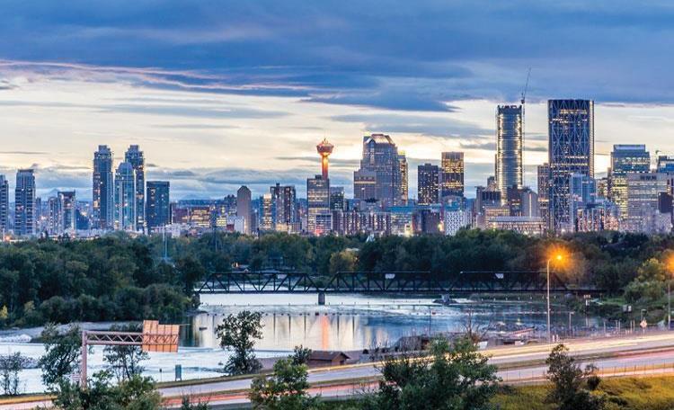 Calgary Skyline at Dusk