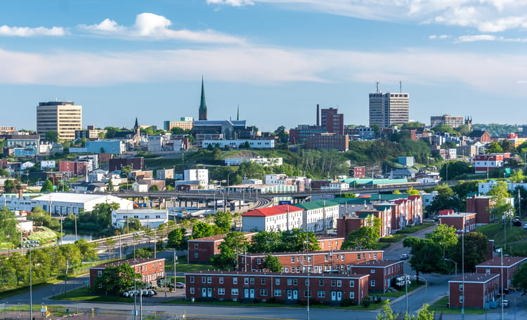 New Brunswick Downtown Aerial