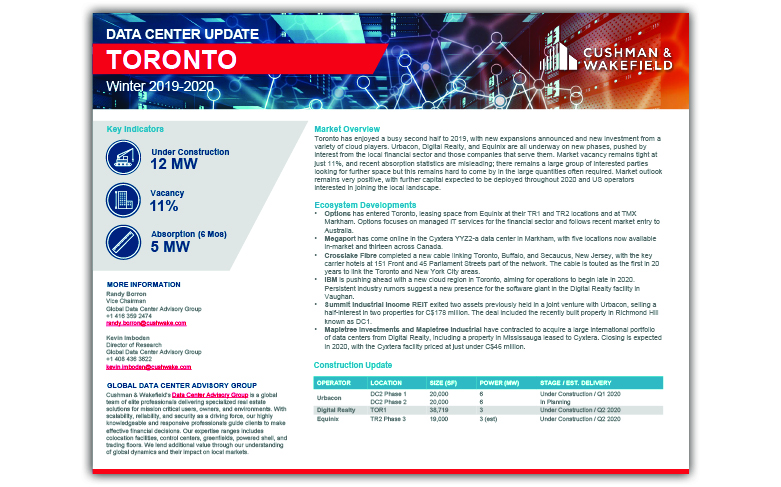 Toronto Data Centre Report Thumbnail