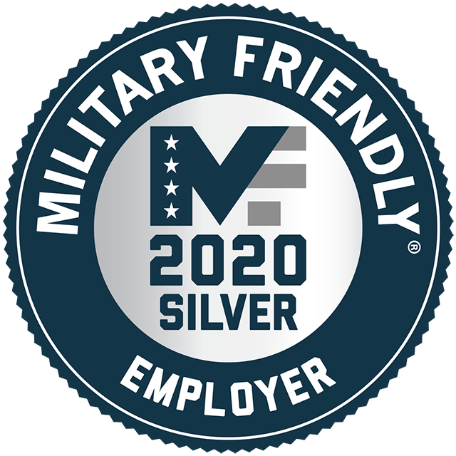 2020 Military Friendly Employer Silver Badge
