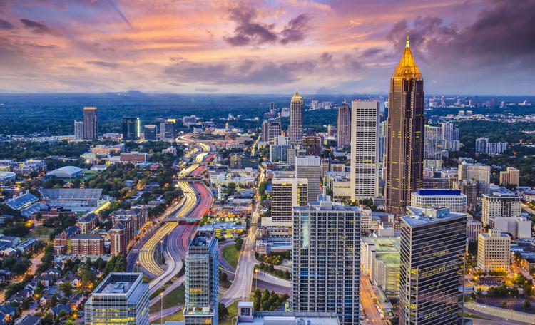Atlanta Evening Aerial