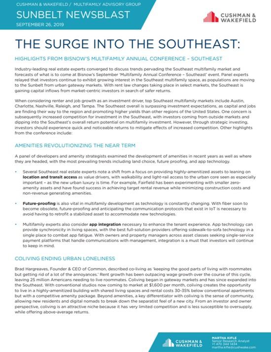 Sunbelt Newsblast Atlanta