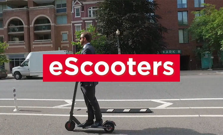 eScooter Rider in Washington DC