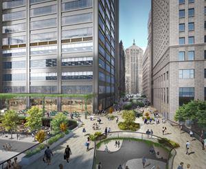 Chicago's Central Loop Elevated Walkway Rendering
