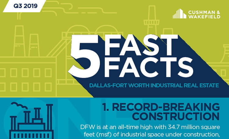 DFW - Industrial 5 Fast Facts 3Q 2019