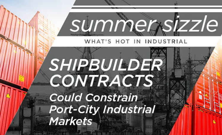 Government Shipbuilder and Repair Contracts Could Further Constrain Port-City Industrial Markets