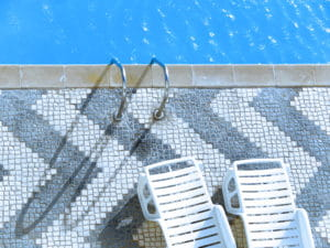 Poolside with chairs