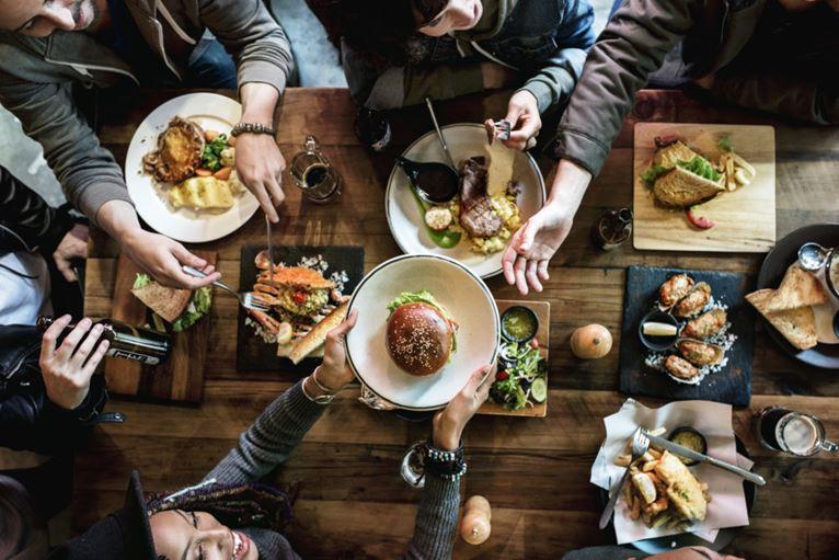 Food social stock img