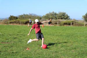 Kickball runner