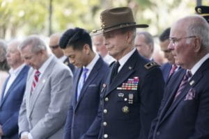 Memorial Service - heads bowed