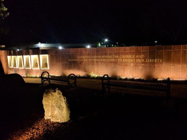 Night view of memorial