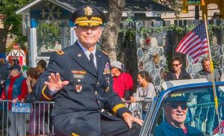 Major General Kent Hillhouse Rides in Veterans Parade