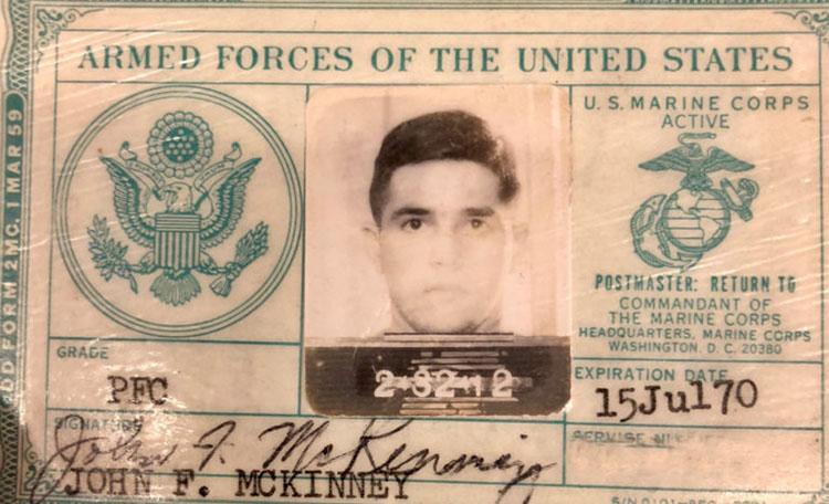 Jack McKinney Marine Corps ID Card