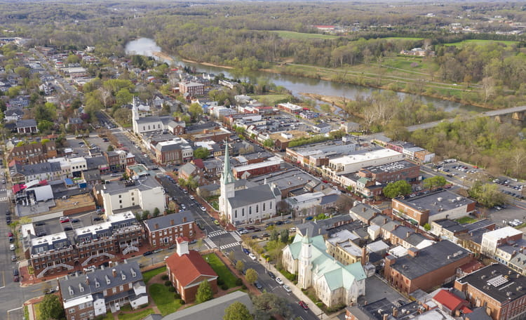 Fredericksburg City Aerial