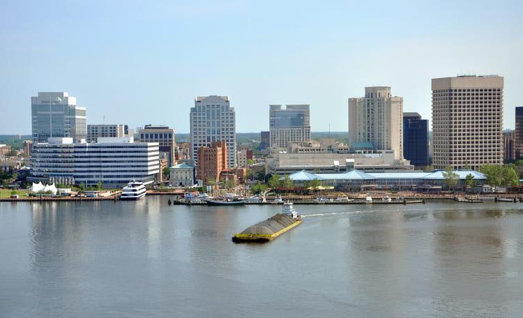 Hampton Roads Area Aerial