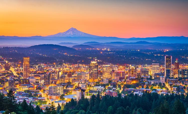 Portland Skyline Aerial