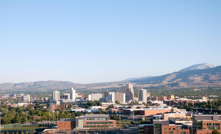 Reno Skyline Aerial