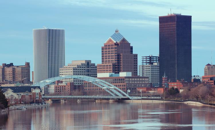 Rochester New York Skyline Aerial