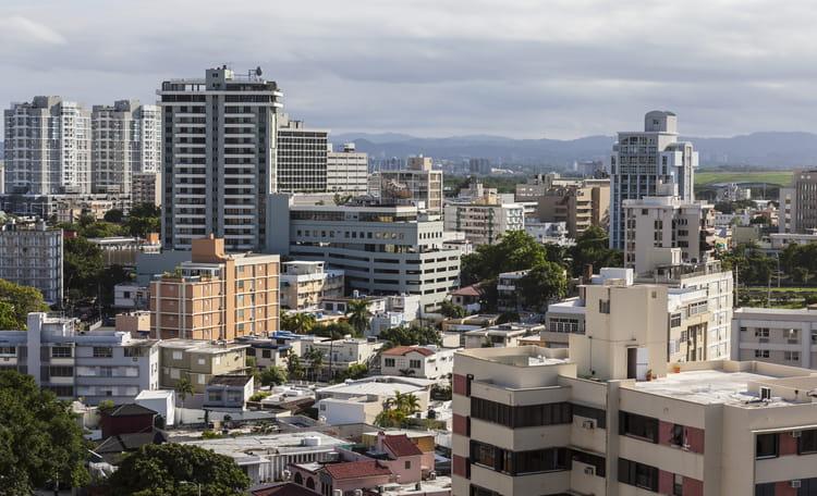 San Juan Downtown Aerial
