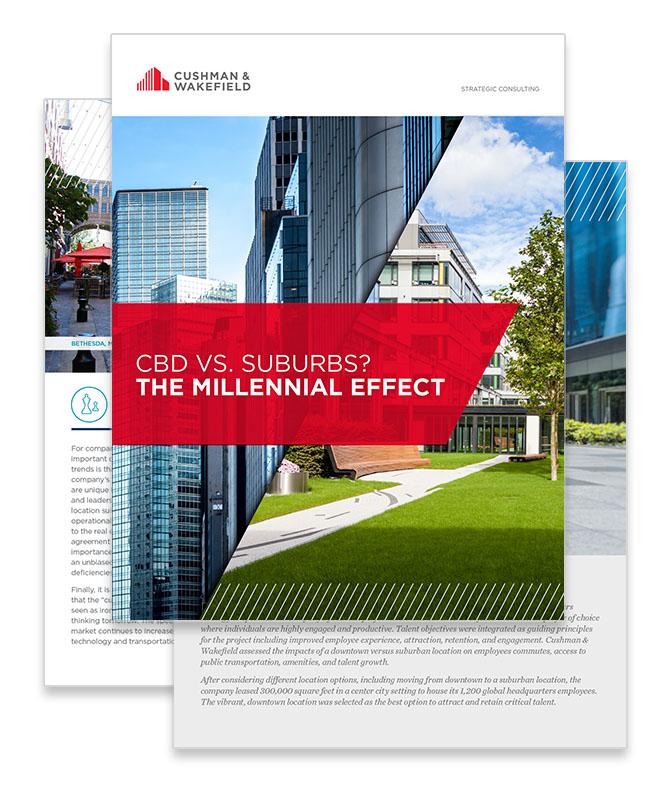 CBD vs. Suburbs? The Millennial Effect