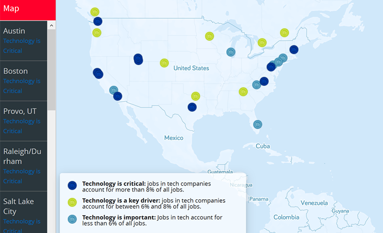 Tech Cities Interactive Map