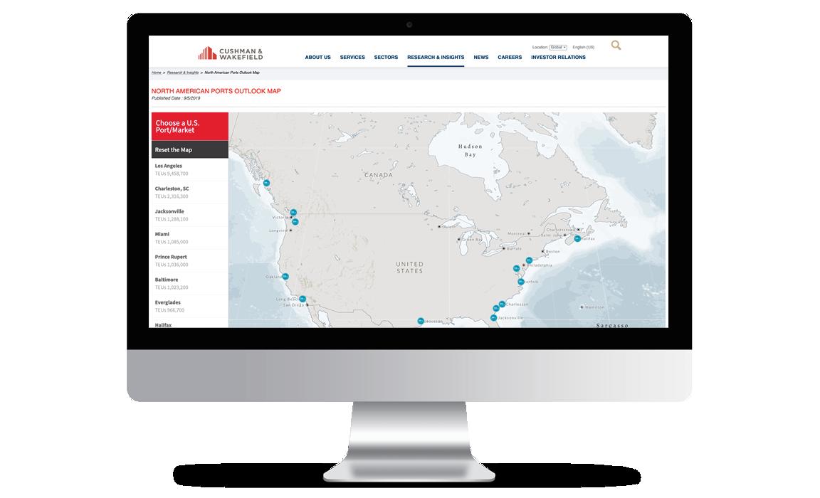 NA Ports Outlook Interactive Map Thumbnail