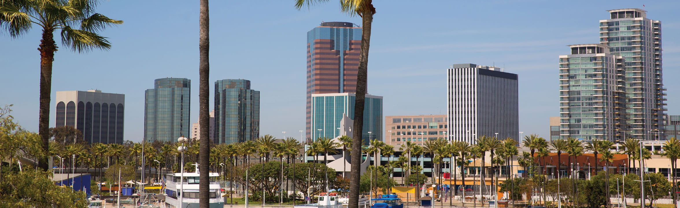 Long Beach Skyline Panorama