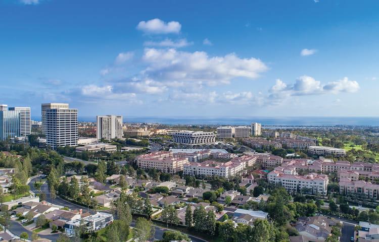 Orange County Skyline Aerial