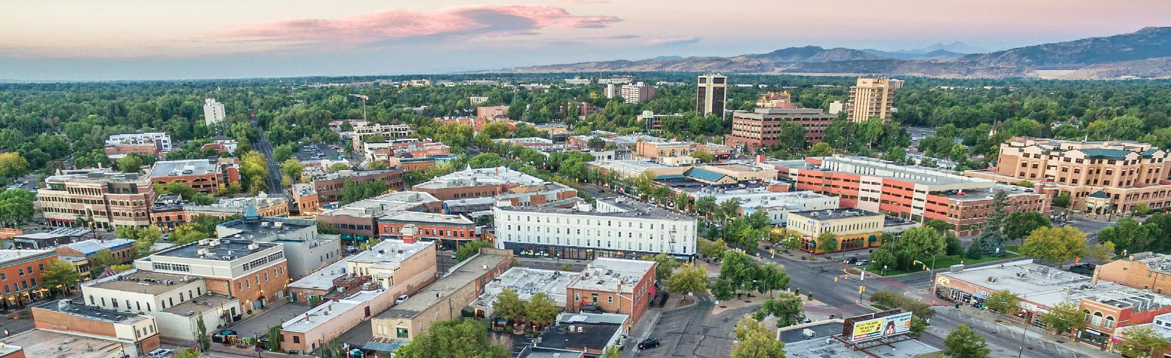 Fort Collins Colorado skyline