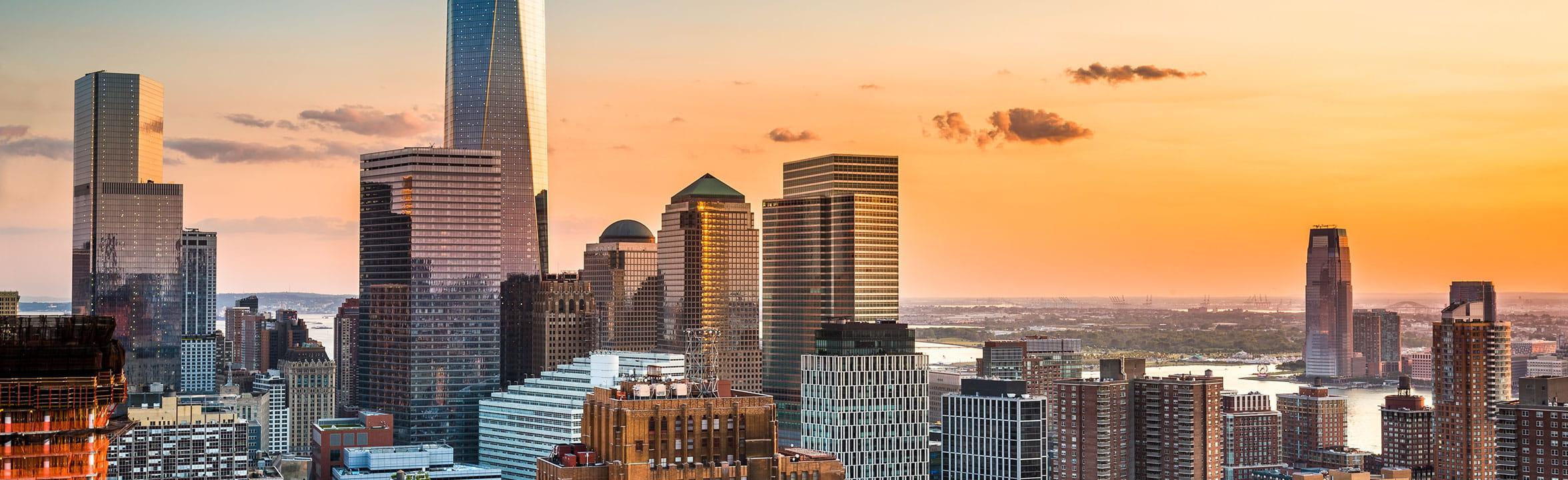 Downtown New York skyline