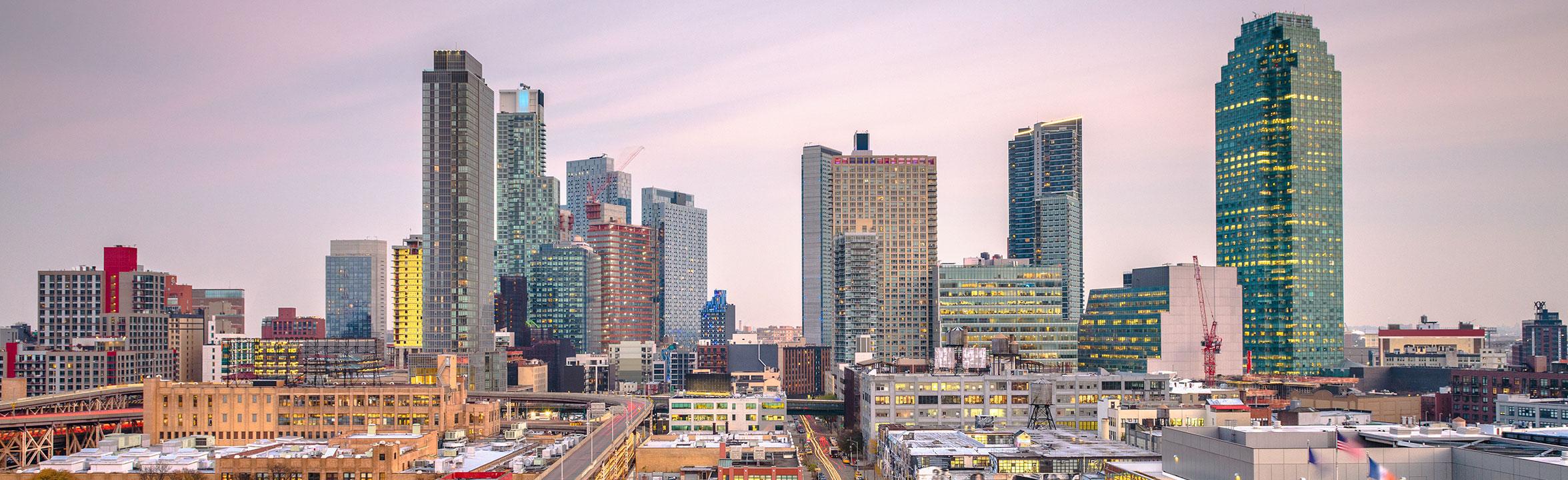Queens New York skyline
