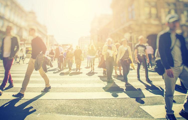 People in crosswalk (image)