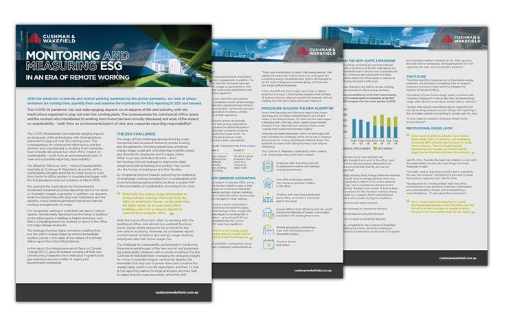 ESG Report Flatlay