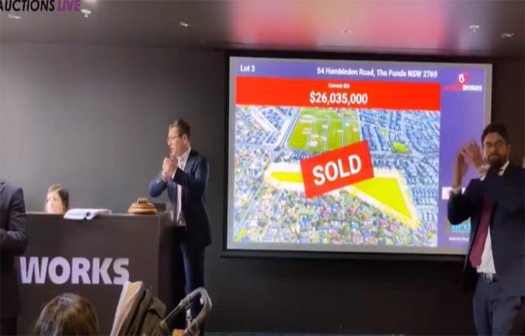 Major Western Sydney Resi Development Site Sells at Auction for $26+ Million