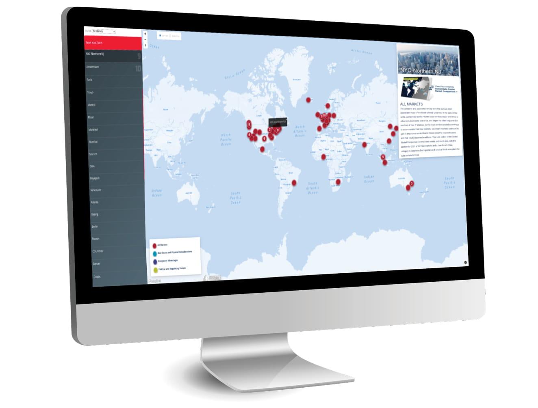 Global Data Center Market Comparison Map Thumbnail
