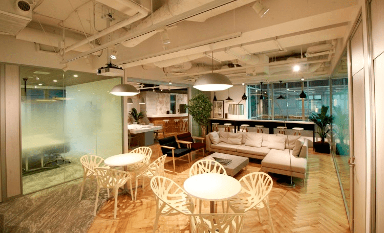 Set-up office example in Tokyo
