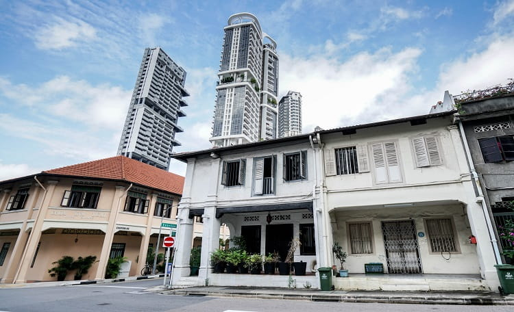 Freehold Corner Residential Shophouse at Everton Road For Sale by Expression of Interest