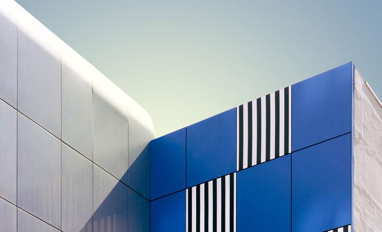 modernist building exterior