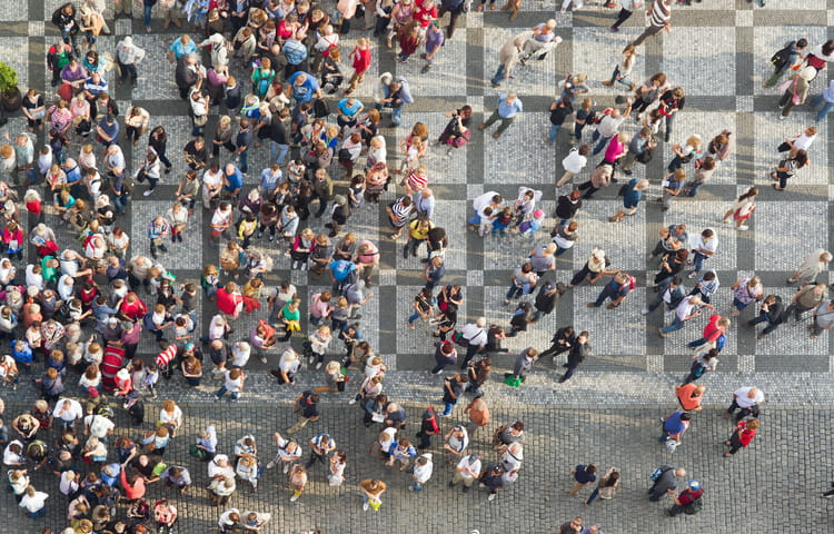 Prague Square crowd