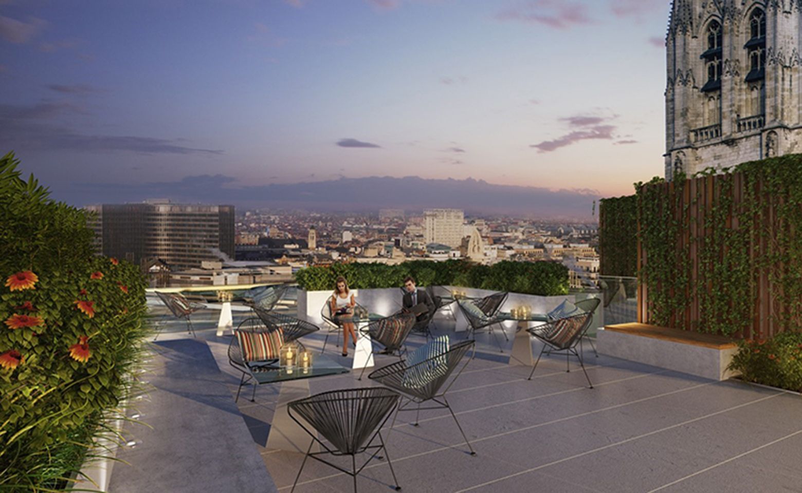 Chancellerie project rooftop