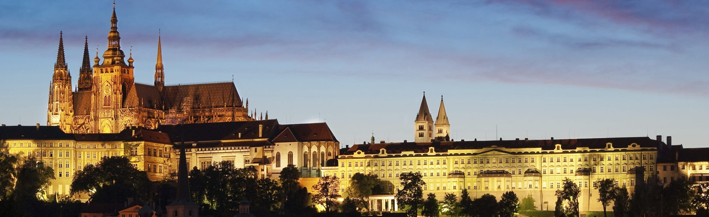 Prague Castle night