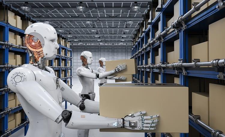 Industrial, Warehouse, robots