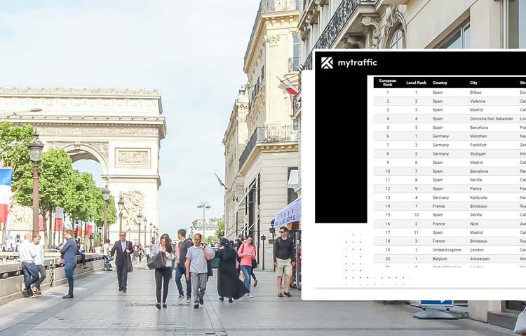Retail Insights - Classement European Highstreets 120 - Mytraffic