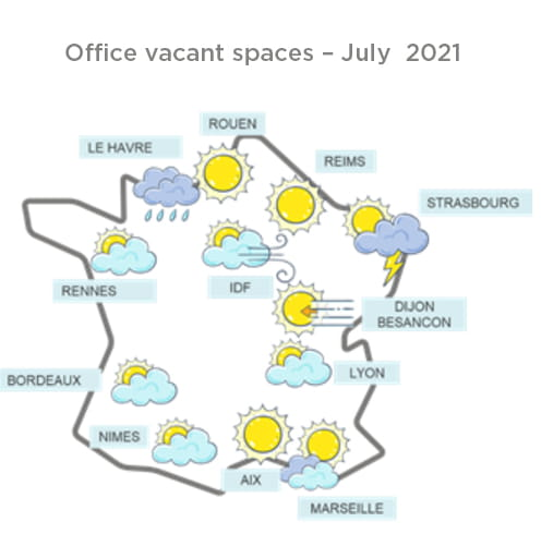 Office vacant spaces – July  2021