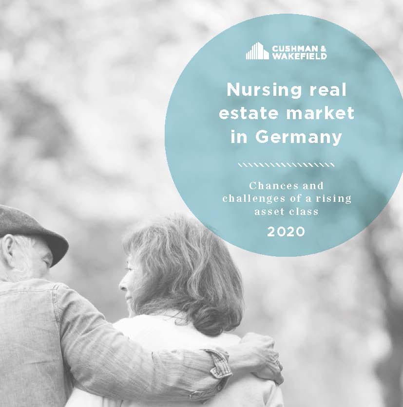 Nursing report cover, couple walking, smiling