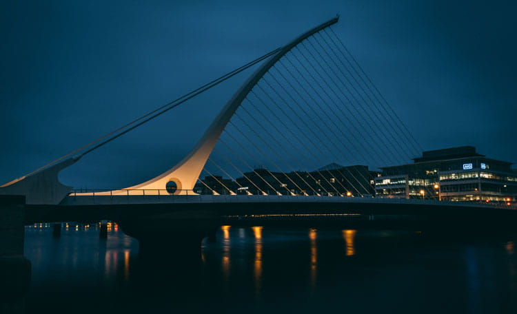 Samuel Beckett Bridge is a cable-stayed bridge in Dublin