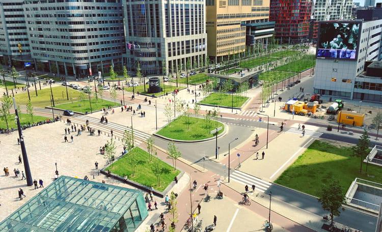 Rotterdam station area, Netherlands