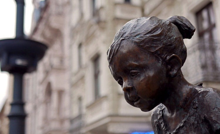 Children's monument Lodz