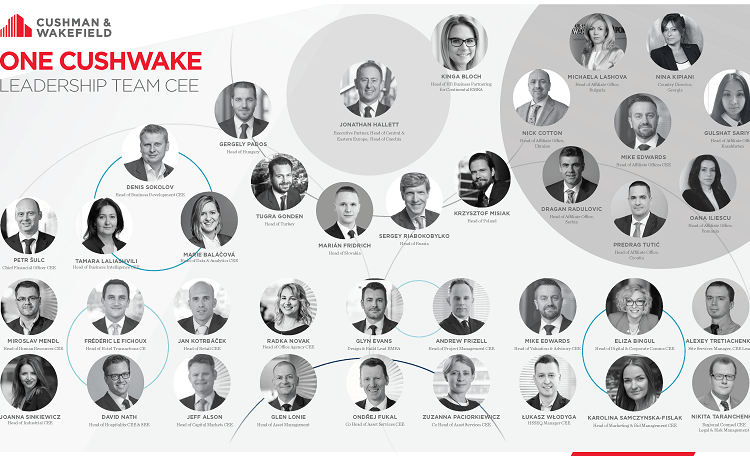 Cushman & Wakefield new structure for Central & Eastern Europe