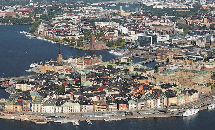 Flygbild Gamla stan